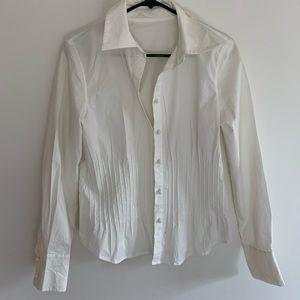 INC off white feminine cotton stretch blouse
